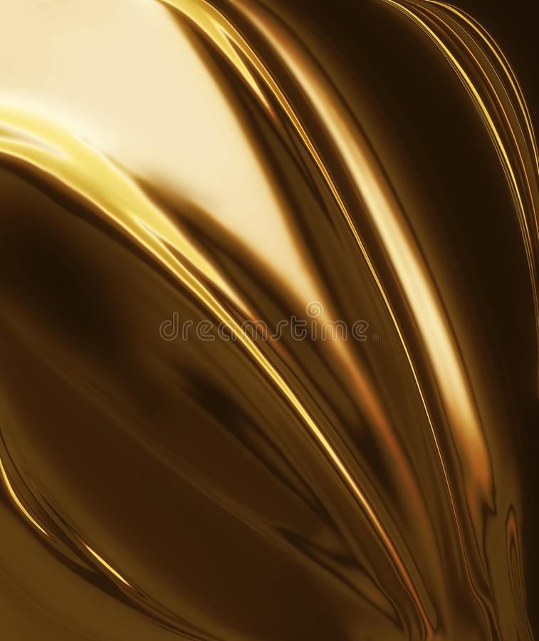 Golden silk. Elegant abstract background with smooth lines royalty free illustration