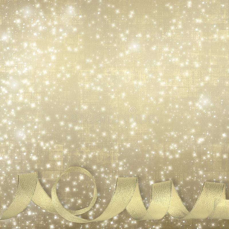 Free Golden Silk Ribbon On A Beautiful Abstract Background Royalty Free Stock Photos - 32826558