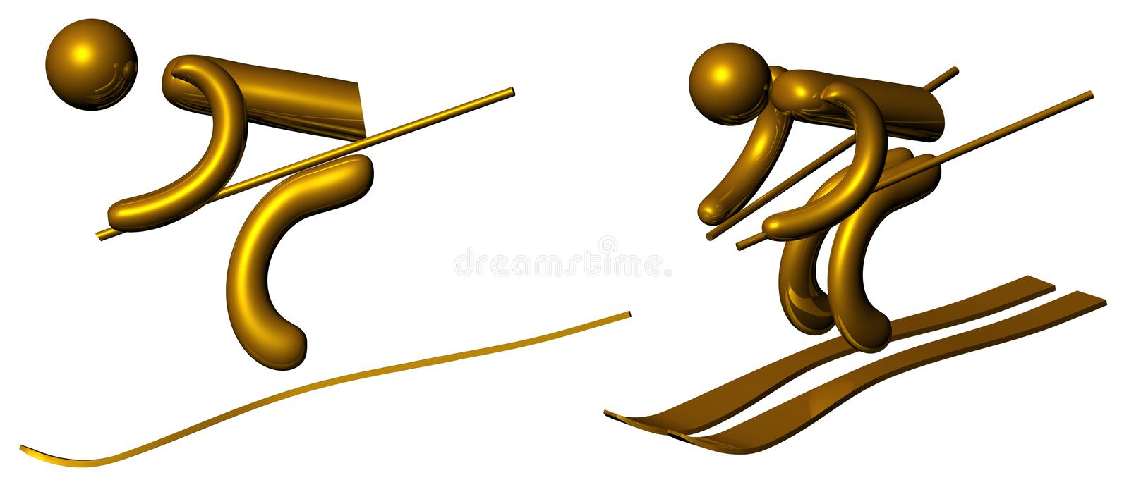 Download Golden skier stock illustration. Image of metal, illustration - 11168127