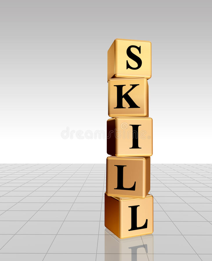 Download Golden Skill With Reflection Stock Illustration - Image: 9878243