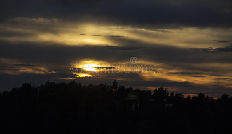Golden sky royalty free stock photography