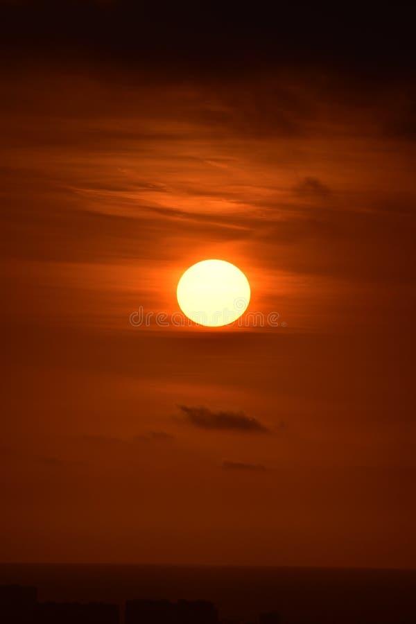 Golden Sky Sunset. This photo was taken at Baldwin Hills Scenic Overlook in Los Angeles, California stock image
