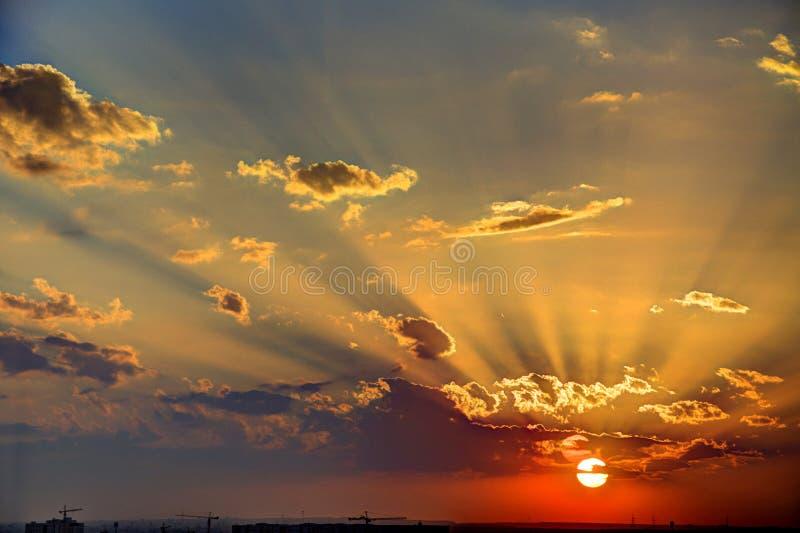 Download Golden Sky sunset stock image. Image of alexandria, orange - 36700087