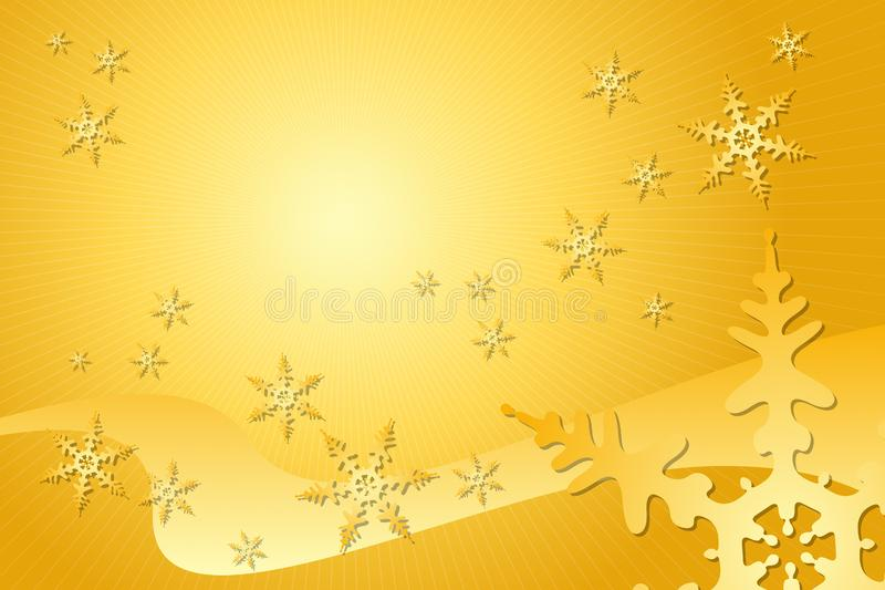 Golden Snowflake Decoration stock images