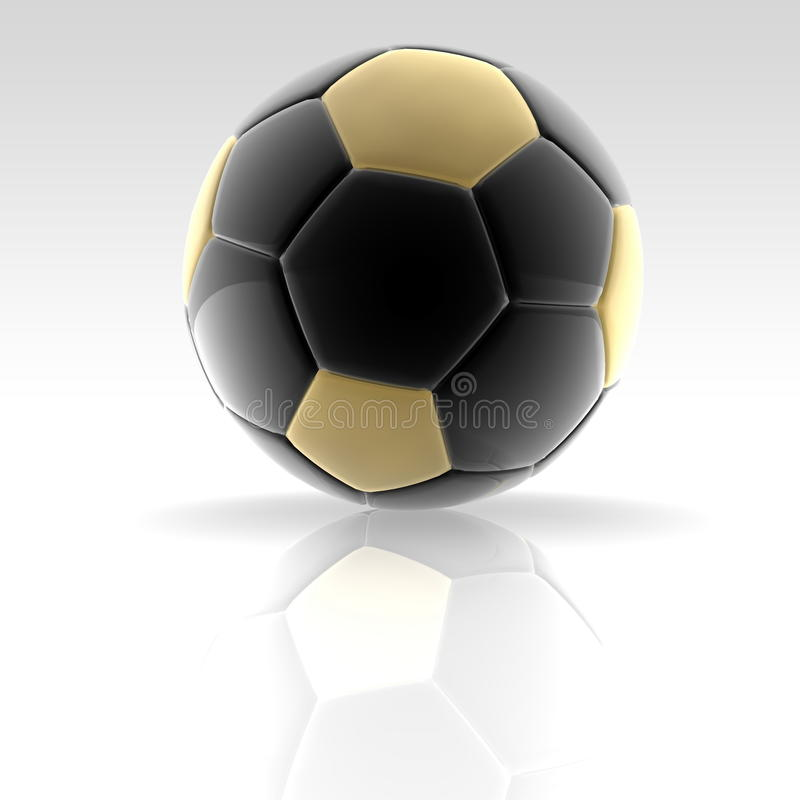Golden Soccer Ball Royalty Free Stock Images