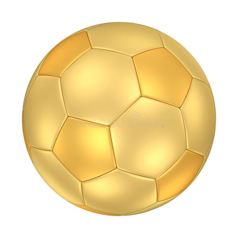 Golden Soccer Ball Stock Image
