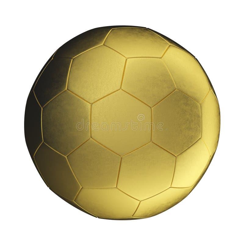Golden soccer ball stock illustration