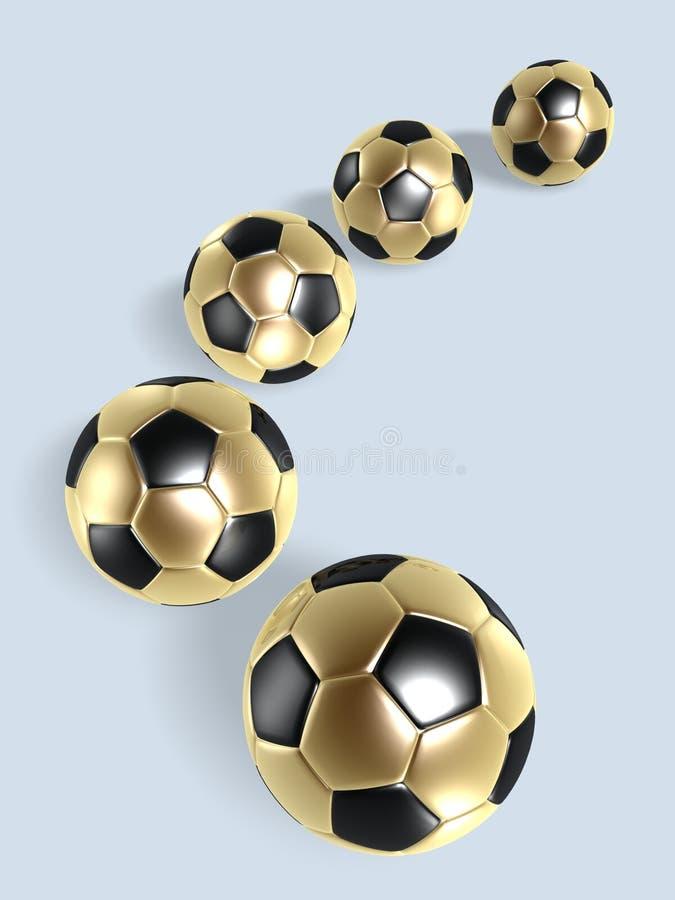 Download Golden soccer balls stock illustration. Image of patterned - 6774689