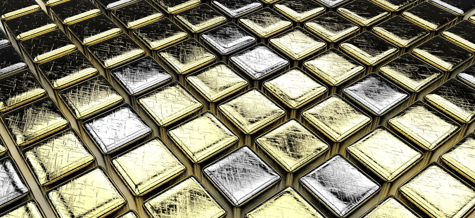 Download Golden (and Some Silver) Cubes Stock Illustration - Image: 26582797