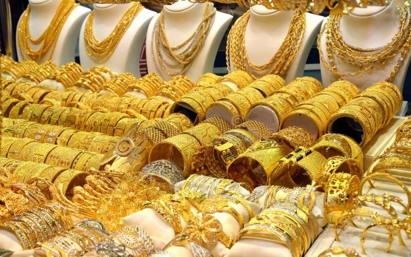 Golden Souk in Dubai stock images