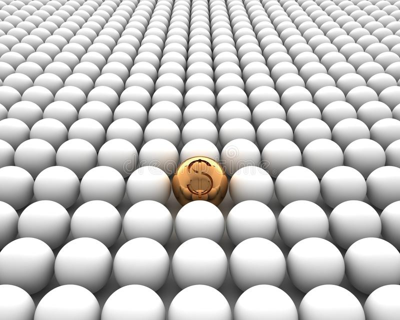 Download Golden Sphere With Dollar  On White Backgr Stock Photo - Image: 27780844