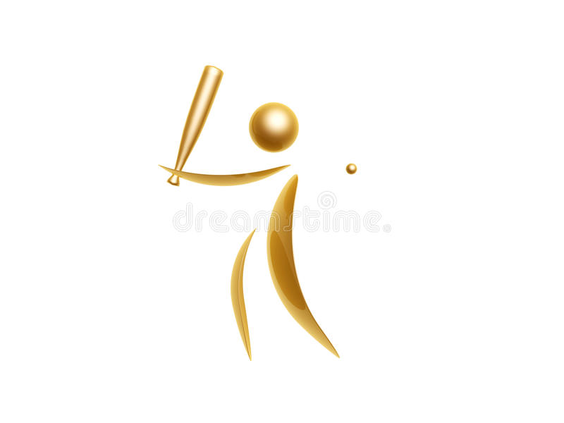 Golden sports symbol vector illustration