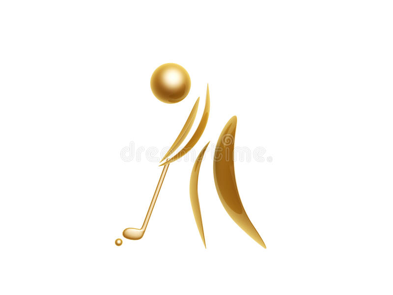 Golden sports symbol stock illustration