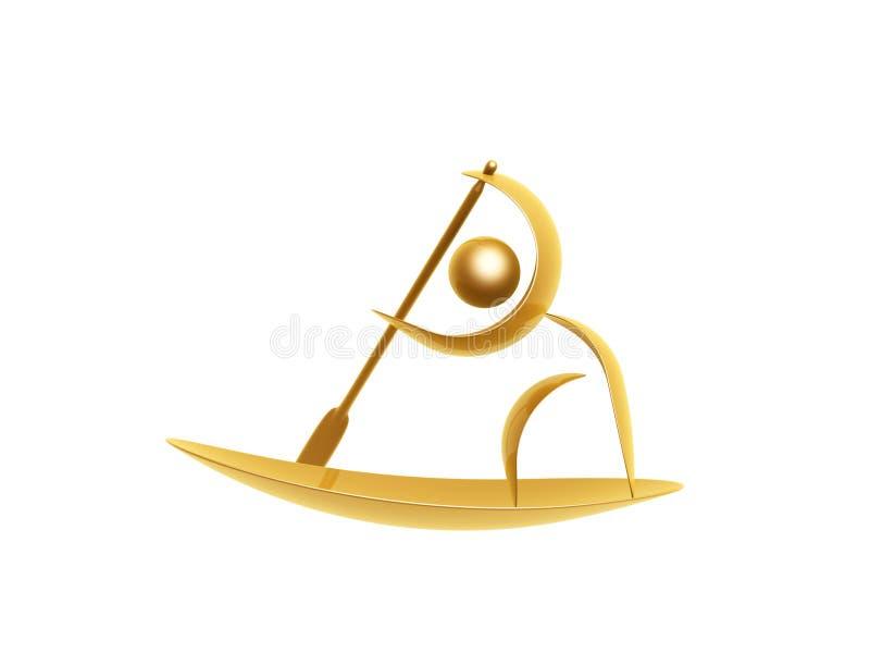 Golden Sports Symbol Royalty Free Stock Photo