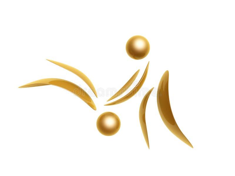 Golden sports symbol stock illustration