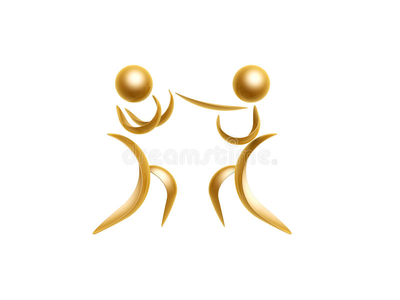 Golden sports symbol royalty free illustration