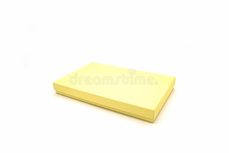 Golden square box royalty free stock photos