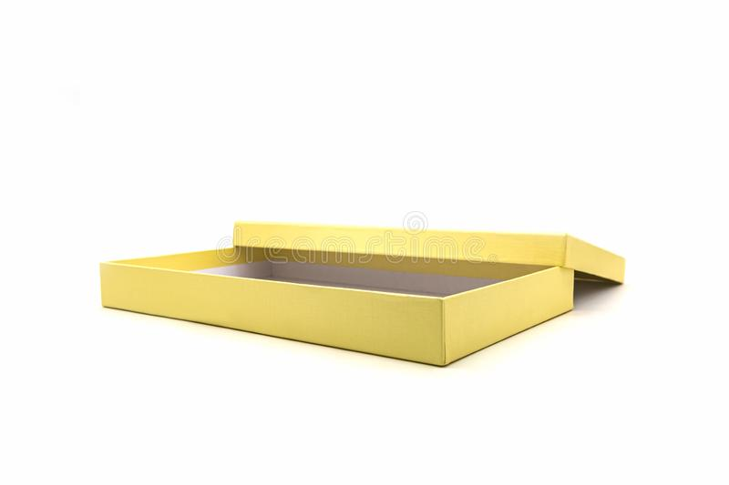 Golden square box stock photography