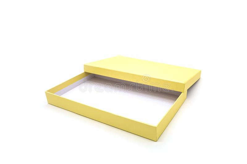 Golden square box stock images