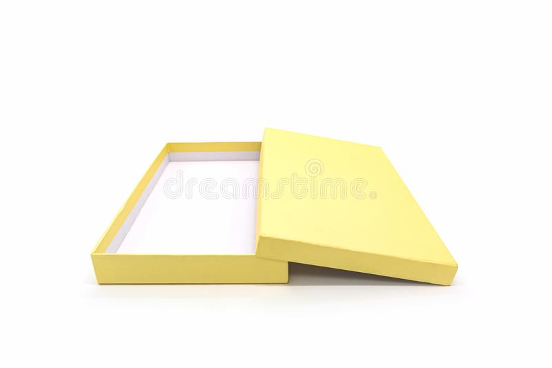 Golden square box royalty free stock images