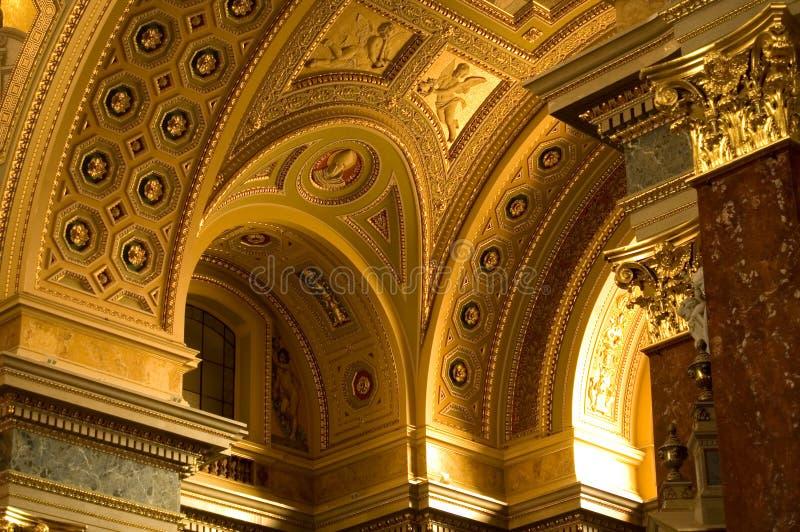 Golden St. Istvan Cathedral stock image