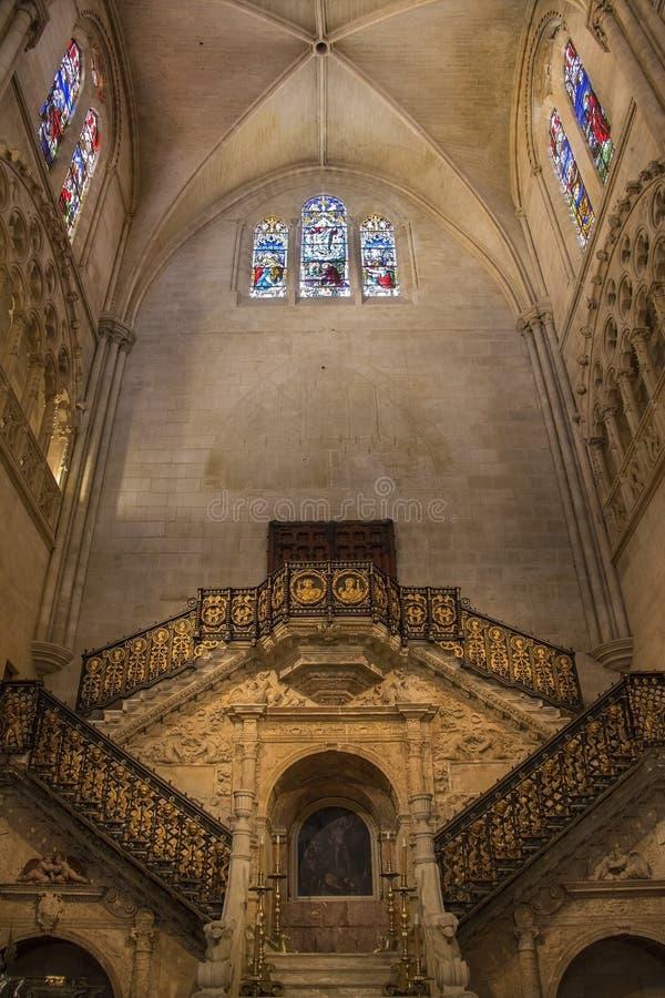 Golden Staircase - Burgos Cathedral - Spain royalty free stock photos