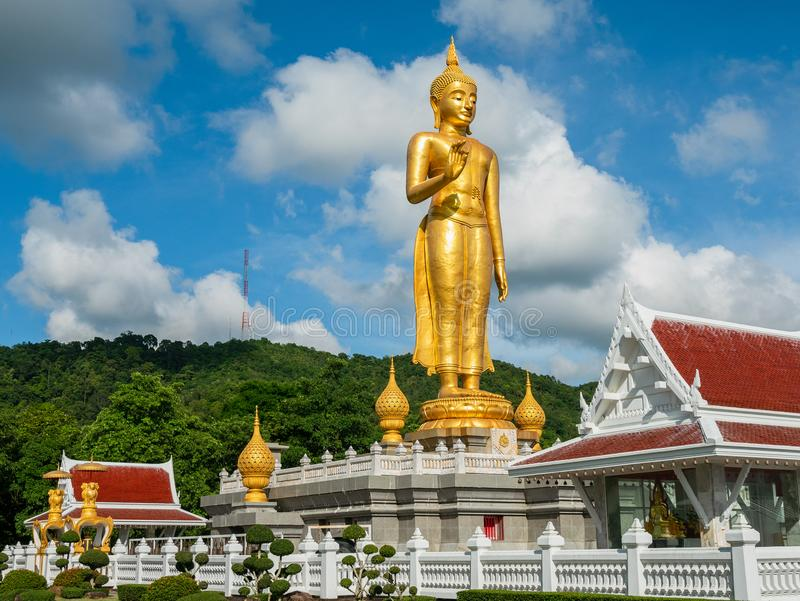 Golden Buddha in Hat Yai, Thailand royalty free stock photos
