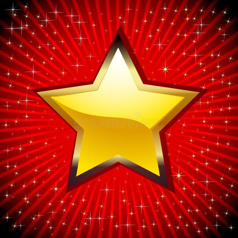 Golden Star. vector illustration