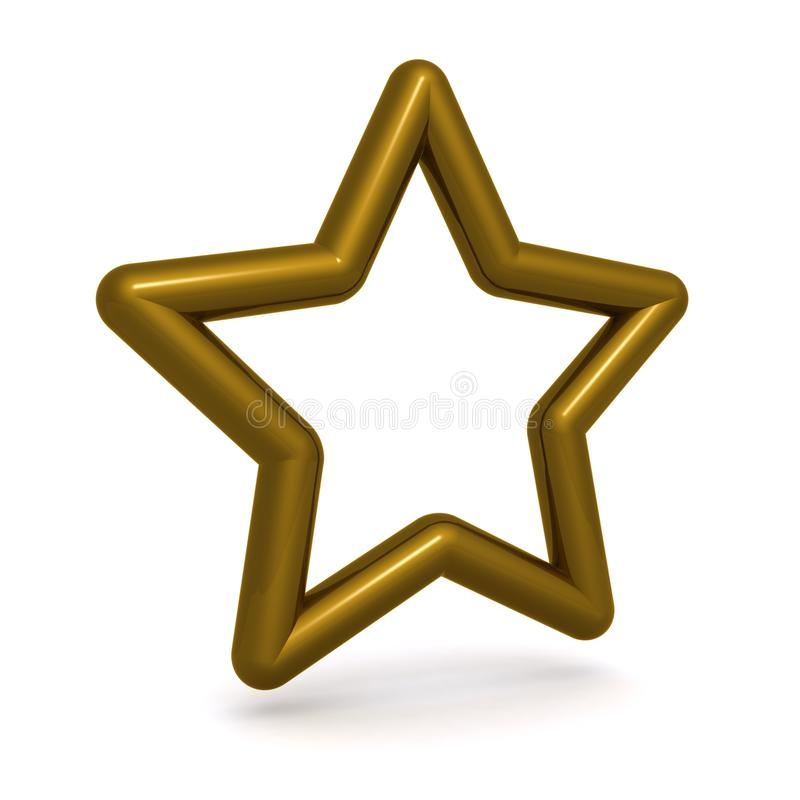 Download Golden star stock photo. Image of three, graphical, background - 21166862