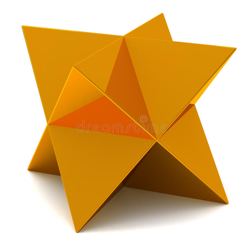 Golden star vector illustration