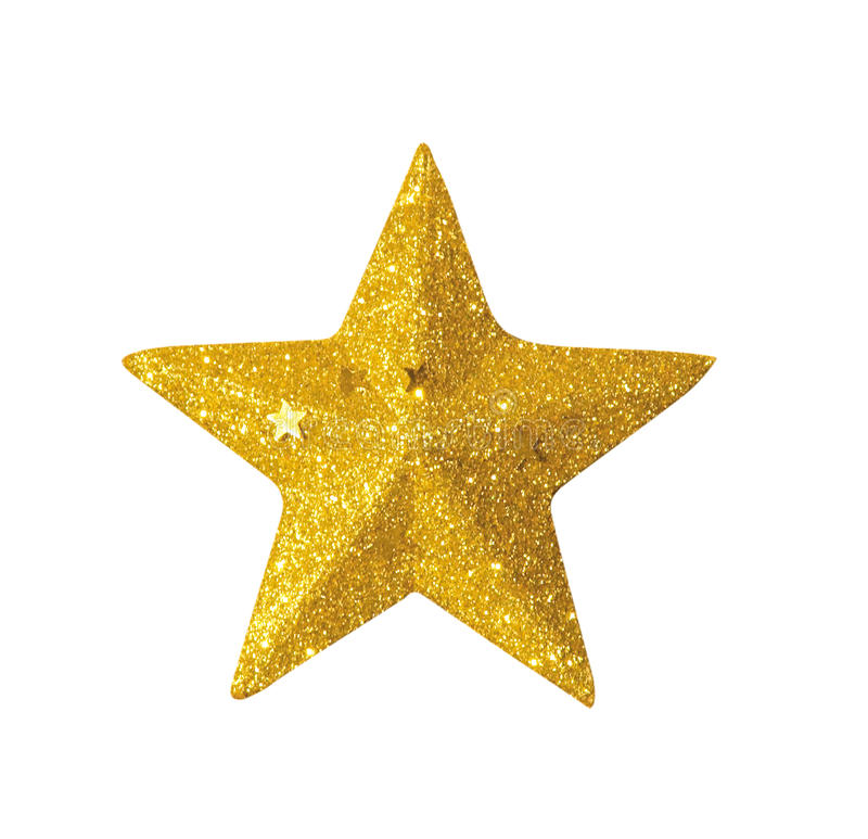 Golden star. A shiny golden star for decoration