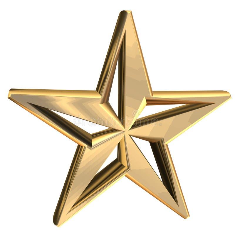 Golden Star stock illustration