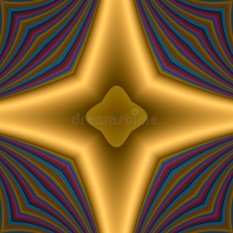 Golden star cross stock illustration
