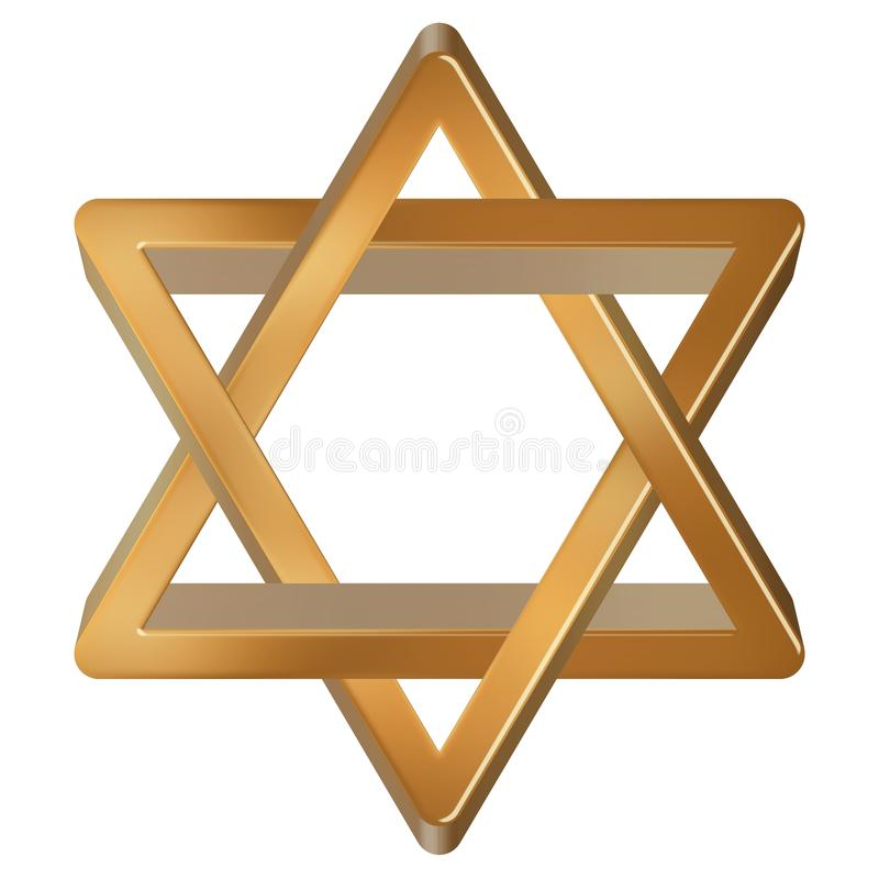 Golden star of David stock photo
