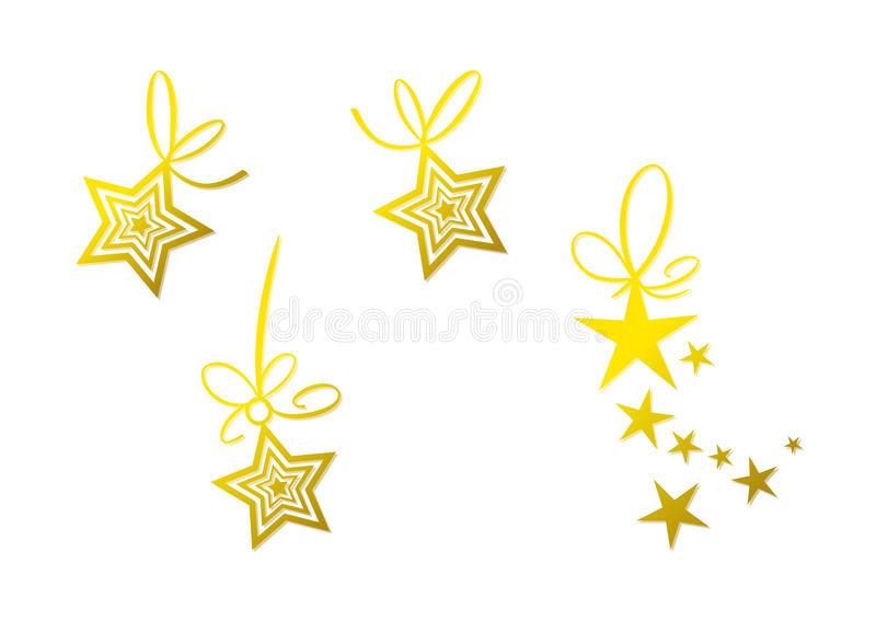 Download Golden Star Decoration (set) Stock Image - Image: 22291981
