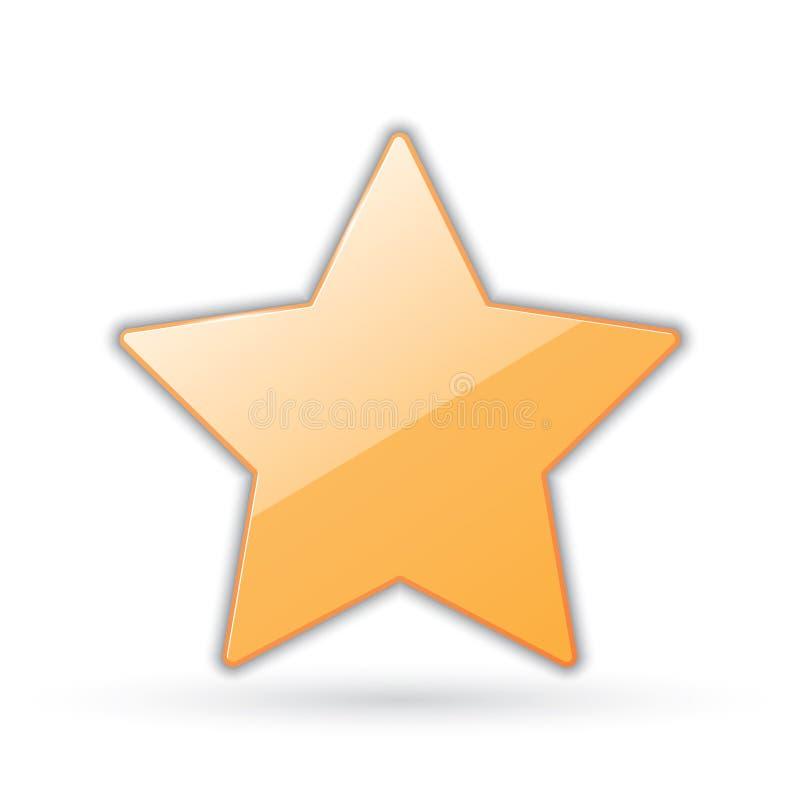Golden star. Icon of golden star. vector eps10 stock illustration