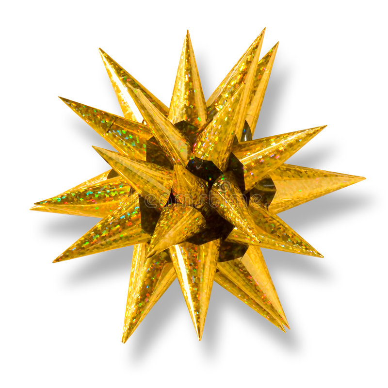 Download Golden Star-Shaped Bow stock image. Image of clipping - 1415065