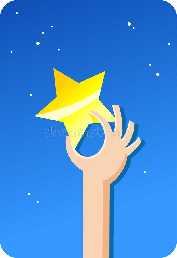 Golden star from sky   Concepts series royalty free illustration