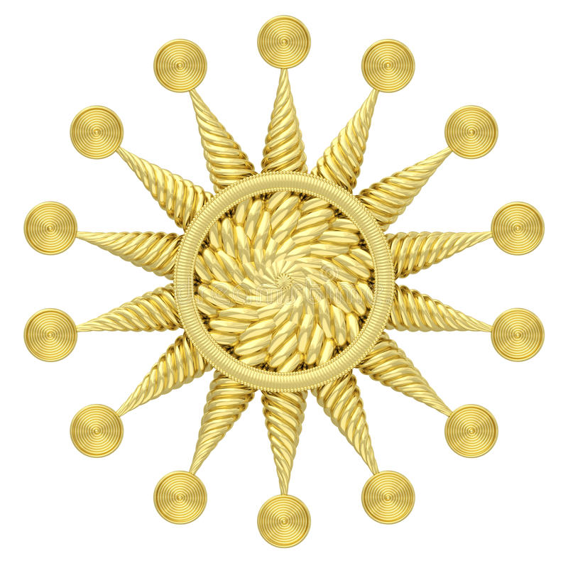 Download Golden Star Symbol Isolated On White Background Royalty Free Stock Photography - Image: 34329377