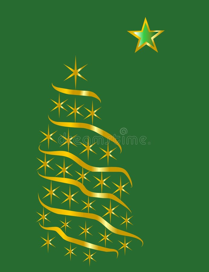 Golden star tree royalty free stock images