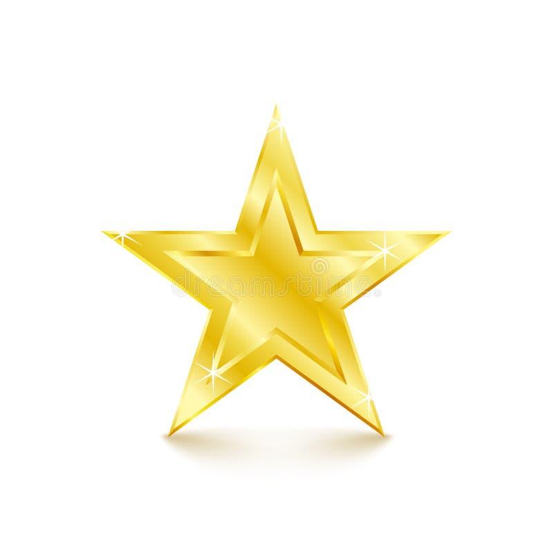 Golden star on white background. Vector Illustration. Golden star on white background. design element vector illustration royalty free illustration
