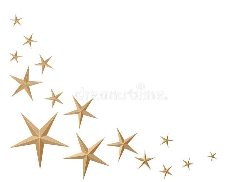 Golden stars royalty free stock photos