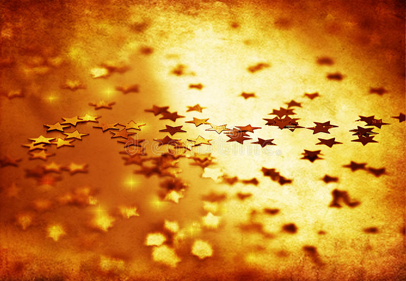 Download Golden Stars Grunge Background Stock Photo - Image: 22483172