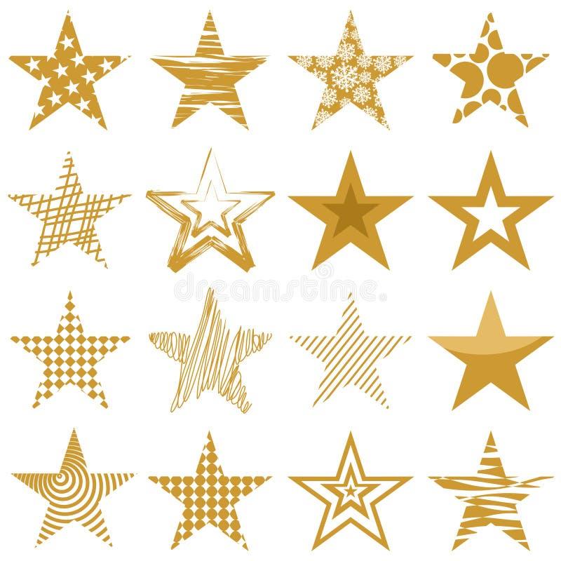 Download Golden stars stock illustration. Illustration of xmas - 34822448