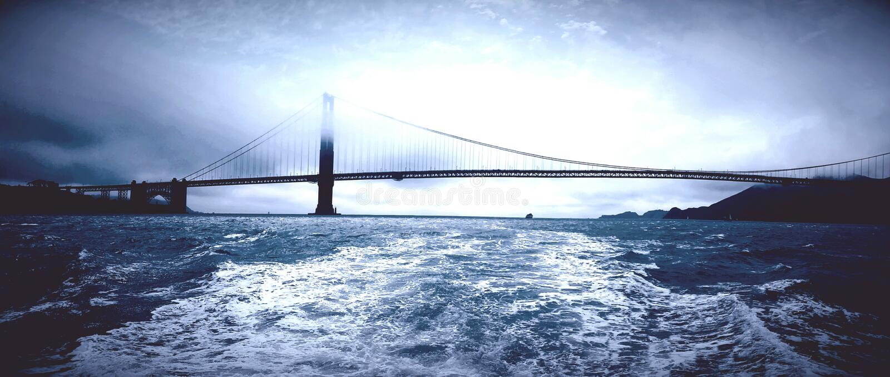 Golden state bridge royalty free stock images