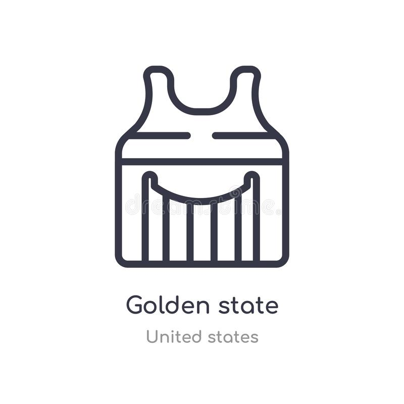 golden state outline icon. isolated line vector illustration from united states collection. editable thin stroke golden state icon vector illustration