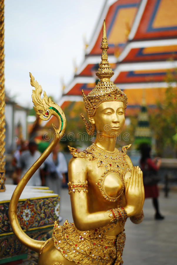 Golden statue royalty free stock images