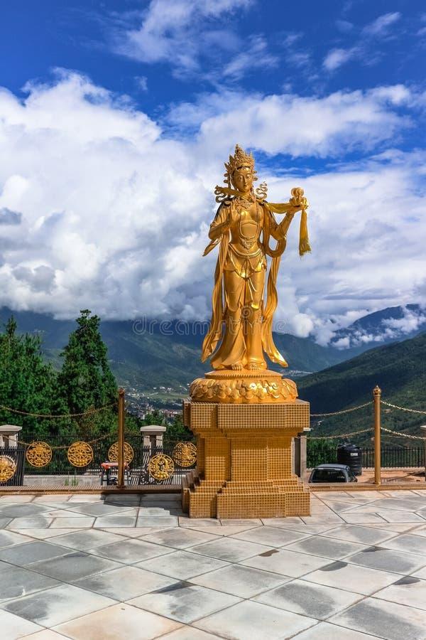Free Golden Statue Of Buddhist Female Gods At Buddha Dordenma Temple, Thimphu, Bhutan Royalty Free Stock Photo - 94292145