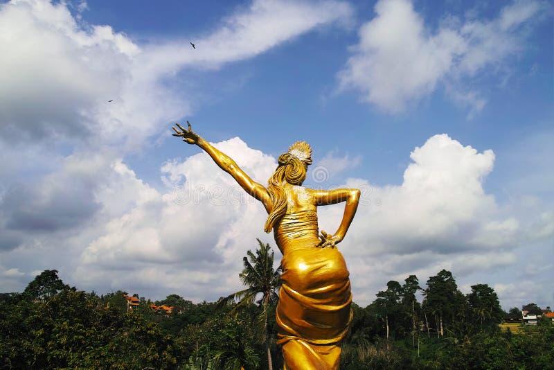 Golden Statues in Blanco Renaissance Museum. Indonesia, Bali, Ubud - Sep, 2014 : Golden Statues in Blanco Renaissance Museum stock images