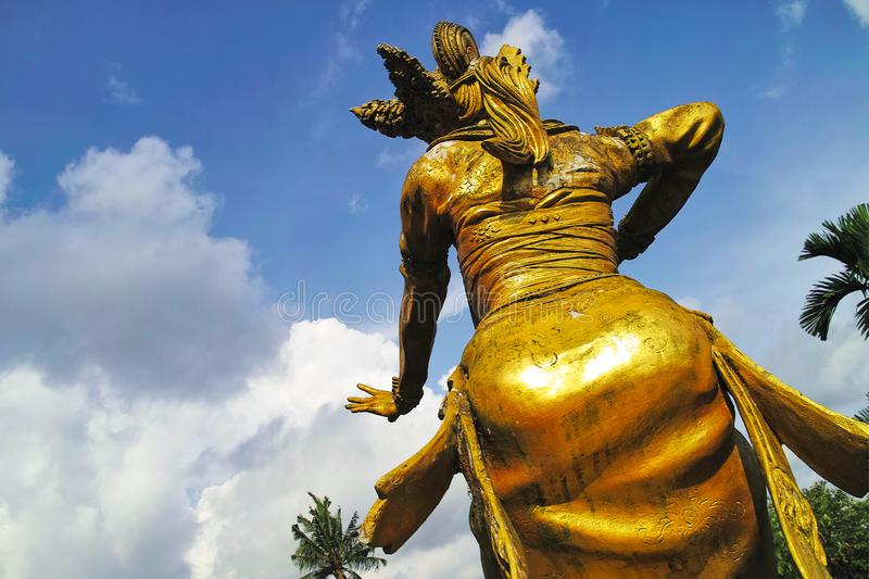 Golden Statues in Blanco Renaissance Museum. Indonesia, Bali, Ubud - Sep, 2014 : Golden Statues in Blanco Renaissance Museum royalty free stock image
